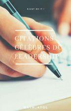 Citations célèbres du leadership  by Nath_Atol