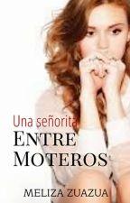 Una señorita entre moteros.  by Aziilem