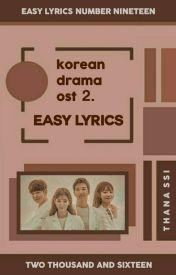 korean drama ost ᨀ easy lyrics。 - th ☁ two people。 - Wattpad