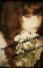 Sunflowers and Feathers by spookyvelociraptor