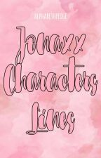 Jonaxx Characters Lines by alphabetpeige