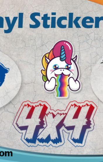 image regarding Printable Vinyl Stickers called Self-adhesive Very clear Vinyl Stickers Printing - Irene Wilson
