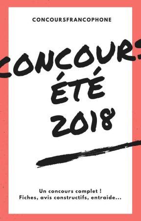 Concours Été 2018 (FERMÉ AUX INSCRIPTIONS) by ConcoursFrancophone