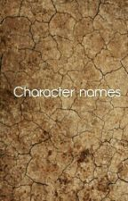 Dark Character Names by ThouNotAWaffle