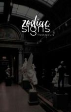 zodiac signs  by obscurities-