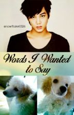 Words I Wanted to Say [EXO Kai and Jjangah fanfic] by snowflake0326