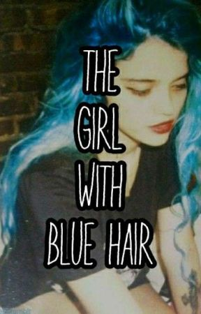 the girl with blue hair  by darkk2005