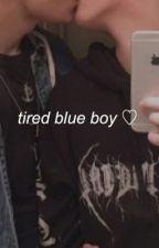 tired blue boy  .•  lukadrien by frostedpie