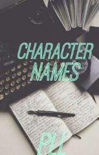 character names 2 by fluffybun_bun