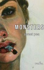 ╳ M O N S T E R S ╳  ||sweet-pea|| by louiseeefrnd