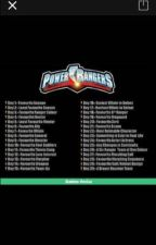 Power Rangers 30 Day Challenge  by Catsmeow148
