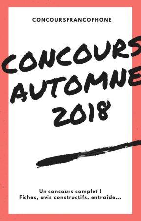 Concours Automne 2018 by ConcoursFrancophone