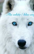 The white/blue wolf by liz5121