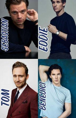 Tom Hiddleston, Benedict Cumberbatch, Sebastian, and Eddie