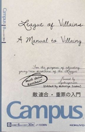 A Manual To Villainy by imtheboykingofhell