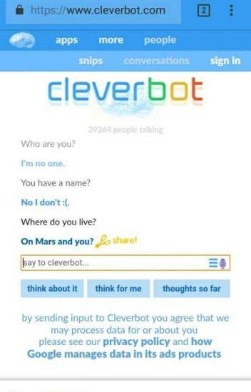 Khi mình chat với cleverbot