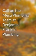 Call on the Mesa Plumbing Team at Benjamin Franklin Plumbing by apartmenttech20