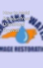 How to Mold Remove from Unpainted Drywall by carolinawater1