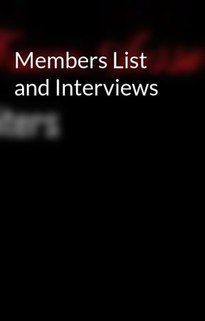 Members List and Interviews by ForumAussieWriters