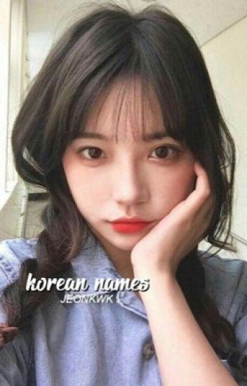 korean names。ff