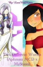 Two different worlds (Aphmau MyStreet x Mcd) by LunaWolfKitten