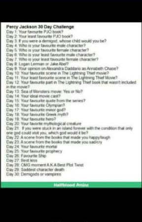 PJO 30 days challenges  by demigod_wannabe_7