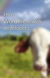 Hire WordPress web developers. by allen12