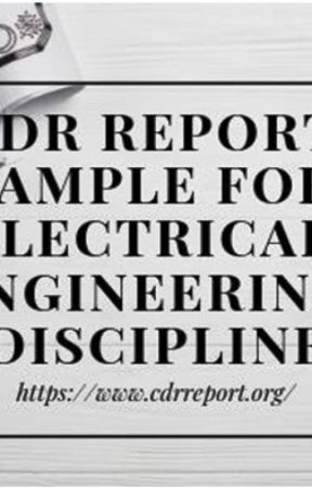 cdr report sample for electrical engineers cdr report sample for