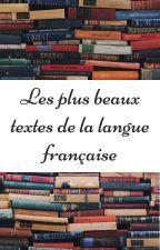 Les plus beaux textes de la langue française by Standalle