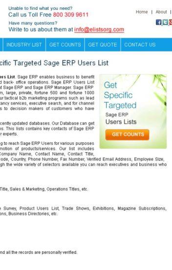 Sage ERP Users List - eListsorg - Wattpad