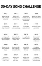30-day song challenge by avasoulier