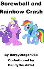 Screwball and Rainbow Crash by DerpyDragon988
