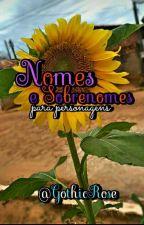 Nomes e Sobrenomes by MariaRenata23