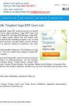 SAP Users Lists by eListBusiness