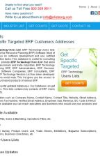 ERP Technology Users List by eListBusiness