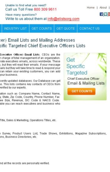 CEO Email Addresses - eListsorg - Wattpad