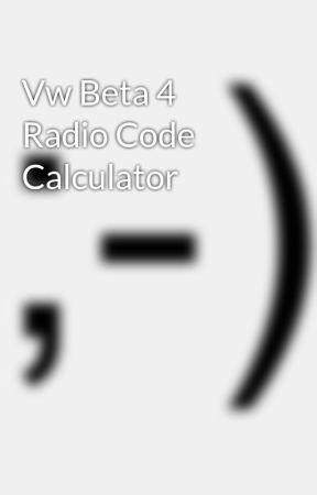 vw radio code calculator