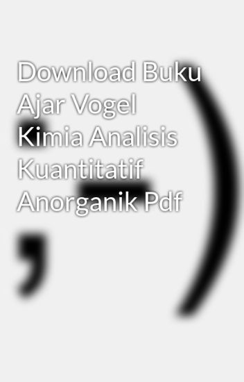 Kimia analitik ebook download