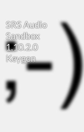 srs audio sandbox registration key