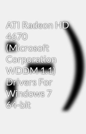 ati radeon hd 4670 driver windows 7 32 bit download