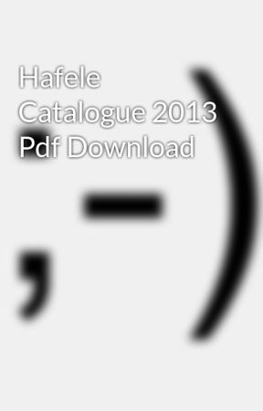 Hafele catalogue download