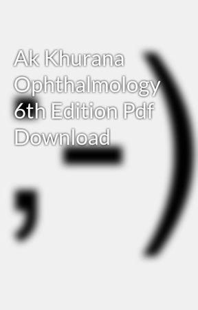 Ebook khurana ophthalmology