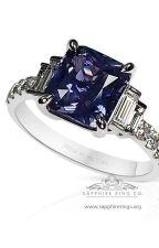 Platinum Color Change Ceylon Sapphire Ring by SappghireringsCo