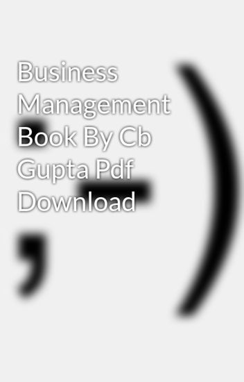 Business Management Book Pdf