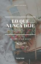 Lo que nunca dije. by d4mnwitch