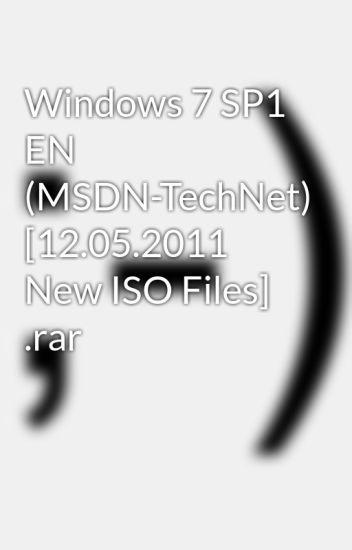 msdn windows 7 sp1 iso