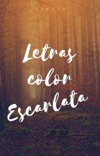 Letras Color Escarlata © by Cero18