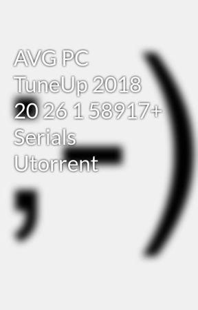 serials avg pc tuneup 2018