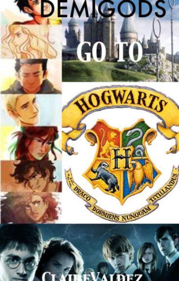 Demigods go to Hogwarts!! [COMPLETED]