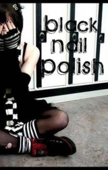 Black Nail Polish by kaybabe300